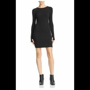 LNA Dark Grey/Black Sweater Dress NWT